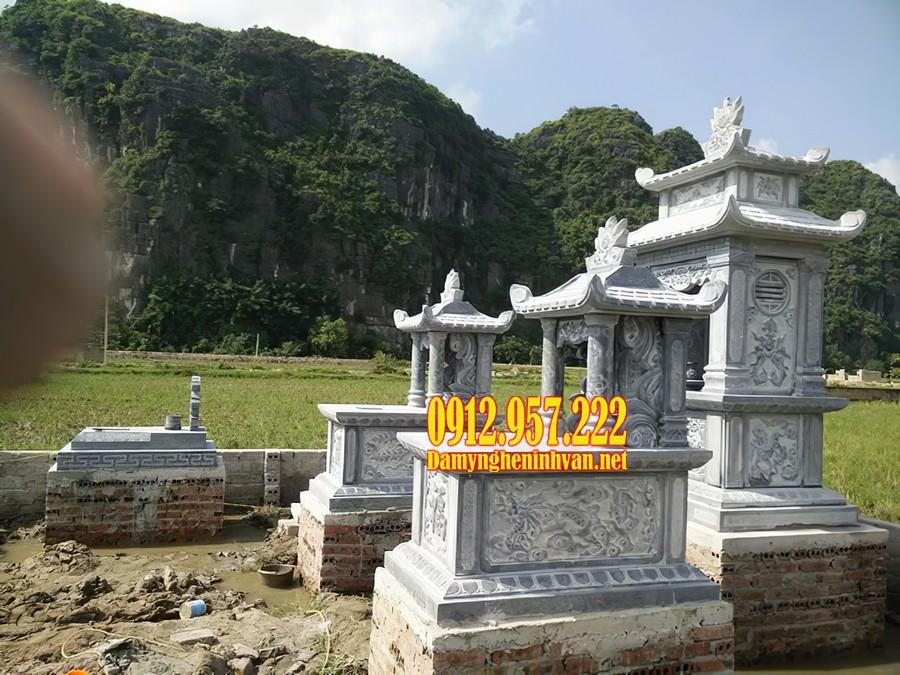 Mộ đá 1 mái sử dụng trong khu lăng mộ dòng họ
