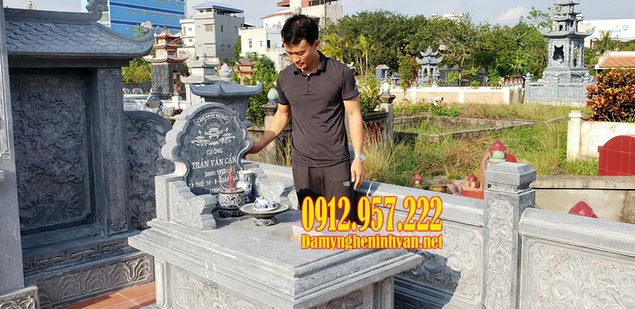 Mẫu mộ tam sơn không mái thiết kế đơn giản