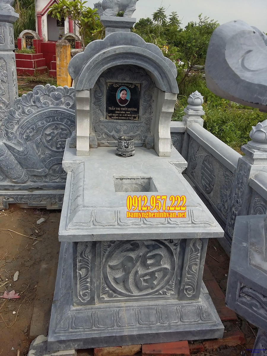 Mẫu mộ một đao đẹp kích thước đa dạng, chuẩn phong thuỷ