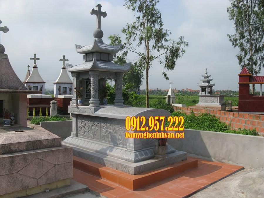 Mẫu mộ hai đao đẹp bằng đá tự nhiên chất lượng cao