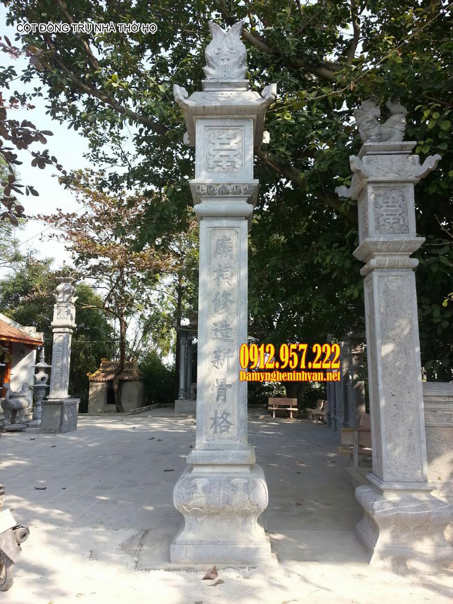 Mẫu cột đồng trụ nhà thờ họ đẹp - Cột đồng trụ nhà thờ họ bằng đá đẹp