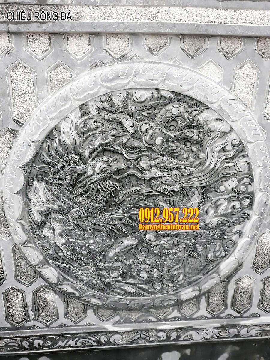 chiếu rồng đá, chiếu rồng bằng đá, chiếu rồng bằng đá nhà thờ họ, chiếu rồng đá đẹp, chiếu rồng nhà thờ họ, mẫu chiếu rồng bằng đá