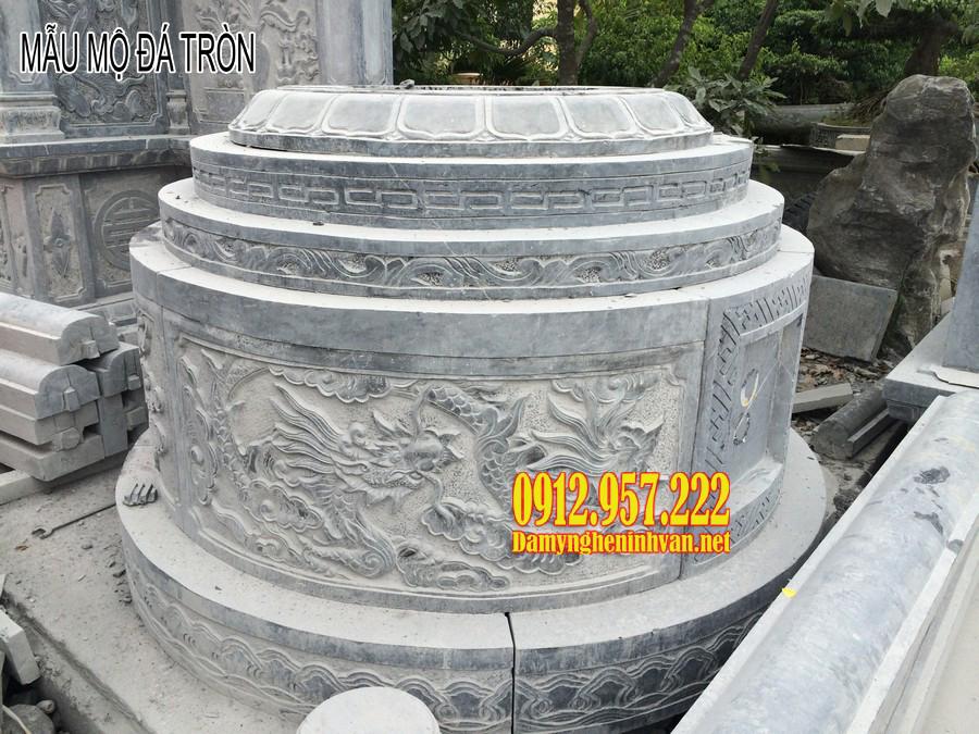 Mẫu mộ đá tròn đẹp - Báo giá mộ đá tròn, giá mẫu mộ tròn đá tự nhiên