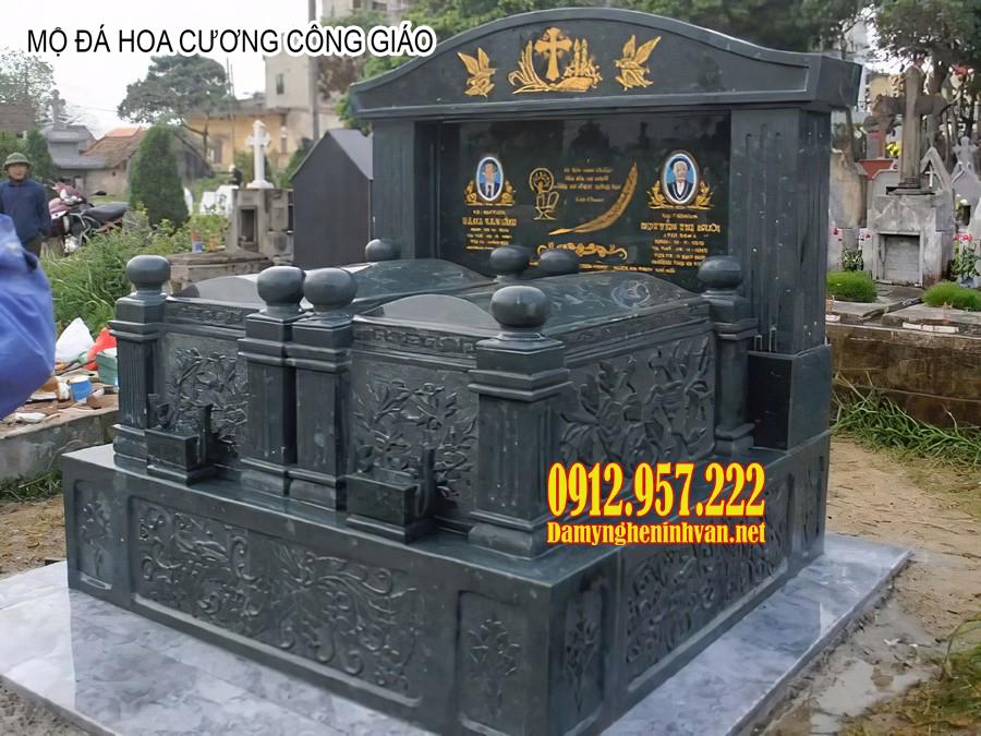 Mộ đá hoa cương công giáo đẹp - Báo giá mộ đá hoa cương công giáo