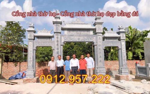Các mẫu cổng nhà thờ họ đẹp bằng đá khối 2020