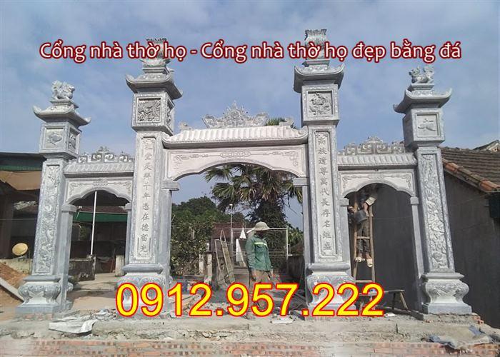 Cổng nhà thờ họ bằng đá 2020 , Mẫu cổng nhà thờ họ đẹp bằng đá