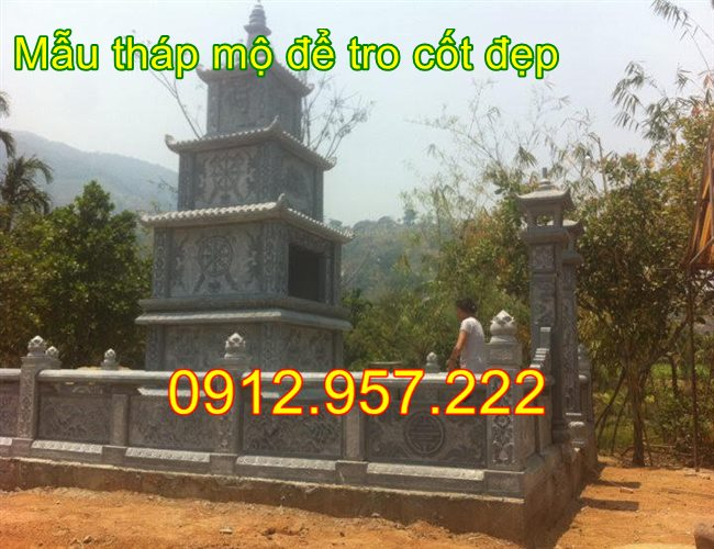 Khu lăng mộ tháp để tro cốt đẹp 2020