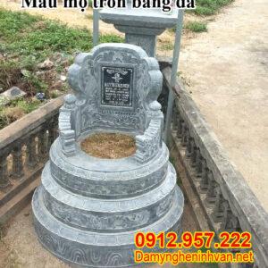 5 mẫu mộ tròn và 5 mẫu mộ đôi đẹp nhất bằng đá