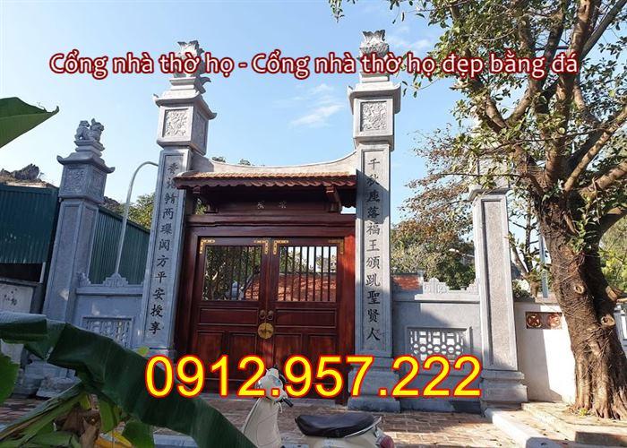 Mẫu cổng nhà thờ họ đẹp bằng đá 2020 , Cổng đá nhà thờ họ