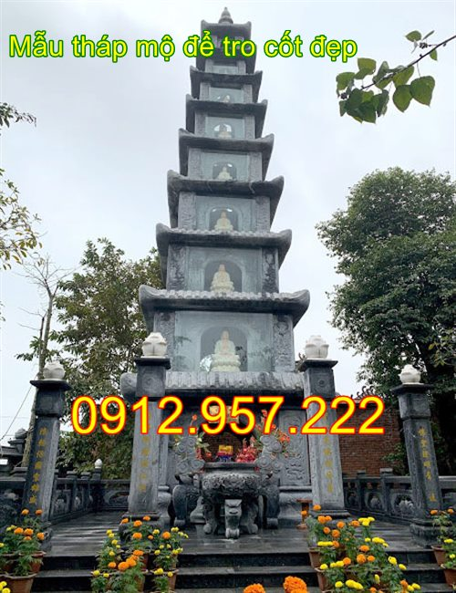 Mẫu tháp để tro cốt tại chùa đẹp nhất 2020