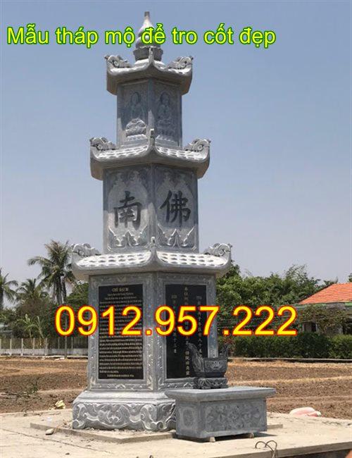 Mẫu tháp mộ đẹp để hài cốt bằng đá 2020