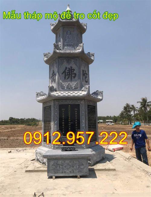 Ngôi tháp mộ để tro cốt bằng đá 2020