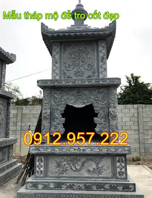 17 Mẫu ngôi tháp mộ để tro hài cốt bằng đá đẹp 2020