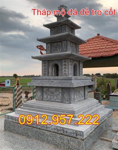 Xây tháp mộ đá để hài cốt đẹp 2020
