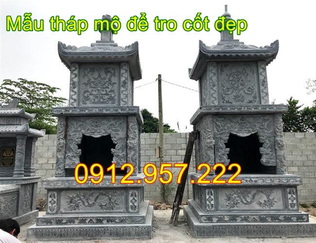Xây tháp mộ để hài cốt đẹp 2020, tháp mộ đá , THáp mộ
