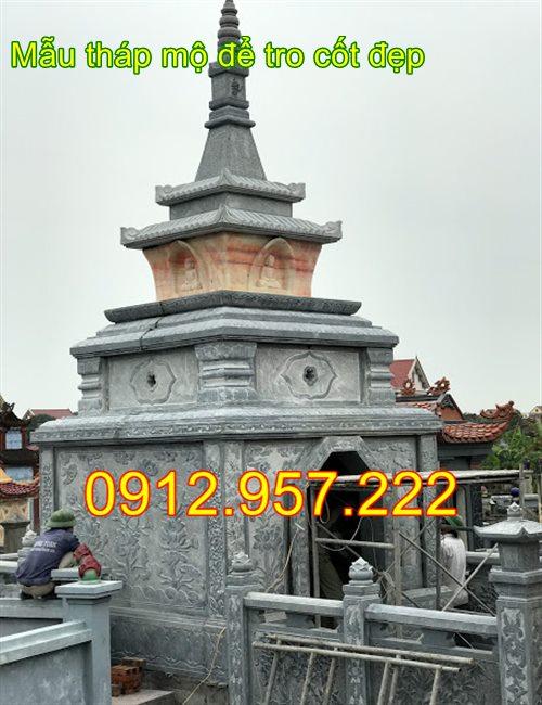 Xây tháp mộ để tro cốt bằng đá khối 2020