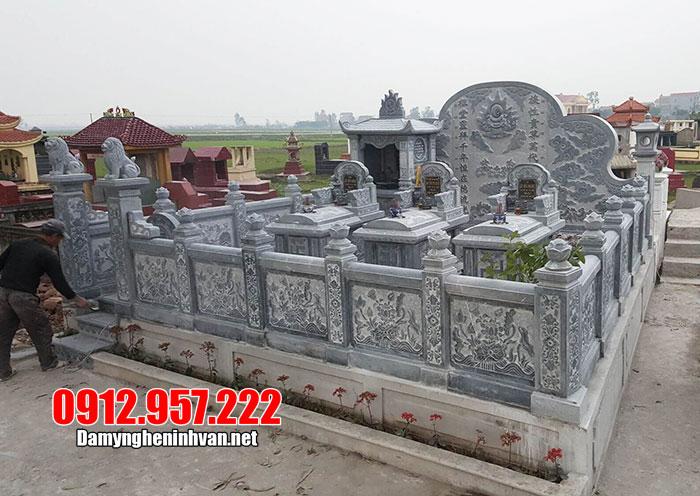 Khu lăng mộ bằng đá ninh vân đẹp