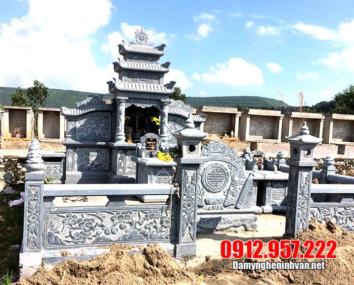Mẫu khu lăng mộ bằng đá đẹp