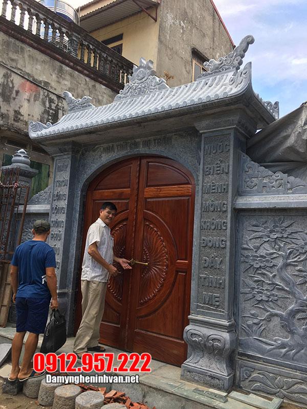 cổng nhà thờ tổ bằng đá đẹp nhất