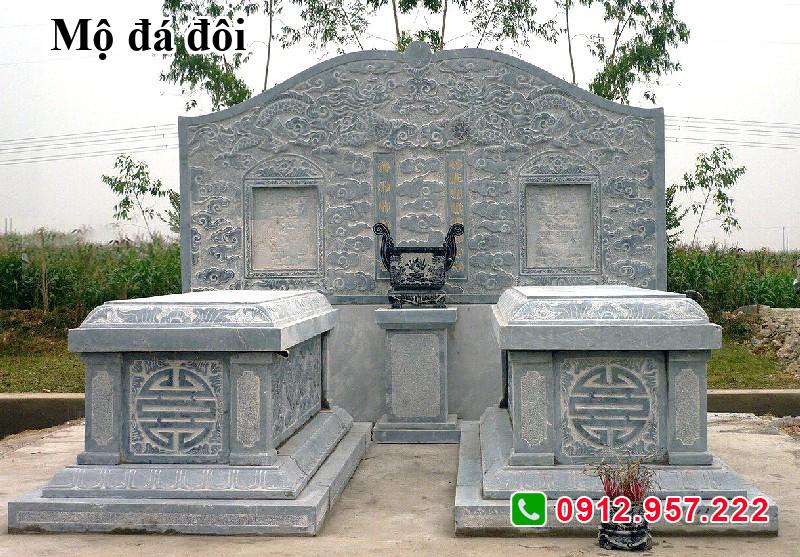 Mẫu mộ đôi bằng đá đẹp 002