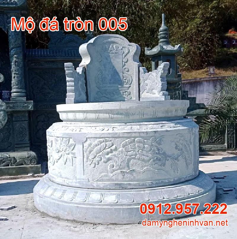 Mẫu mộ đá tròn đẹp nhất 005