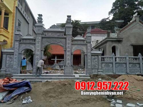 Thiết kế cổng nhà thờ họ đẹp