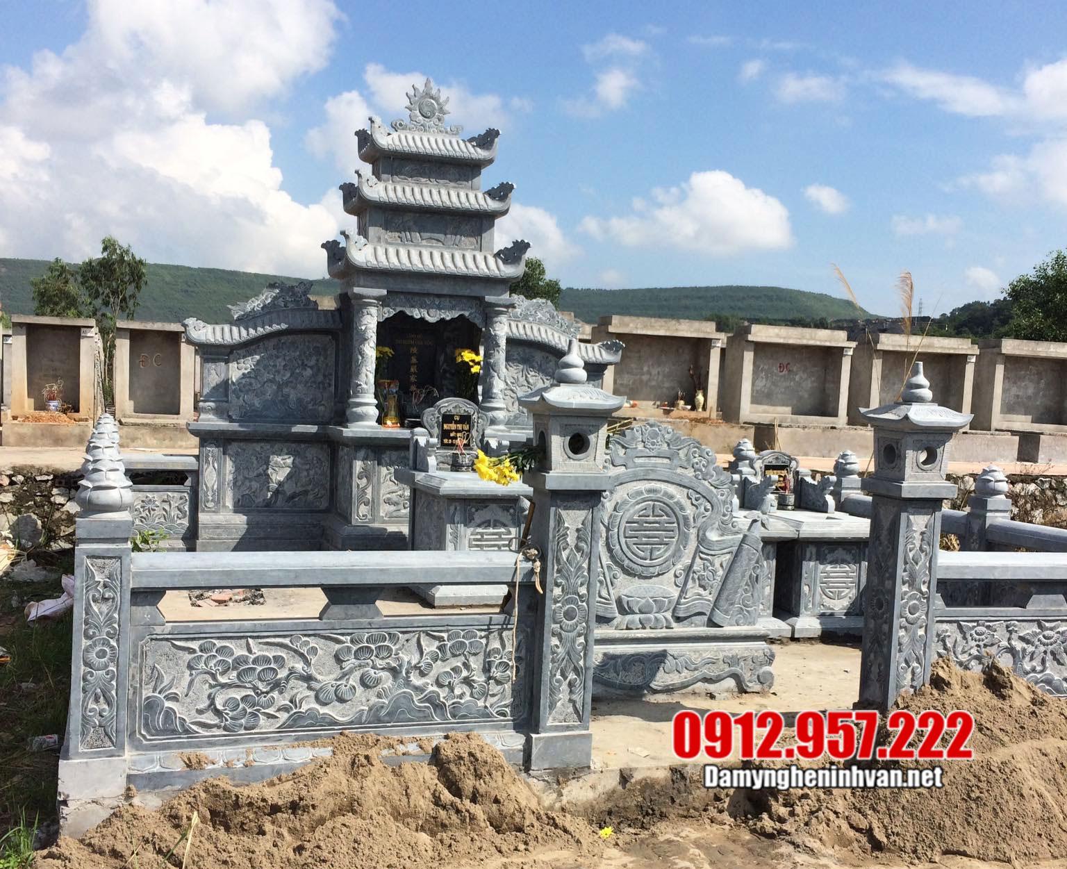 Thiết kế khu lăng mộ đẹp ở Đắk Lắk