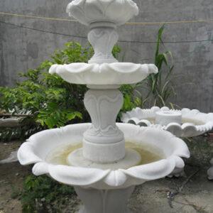 Đài phun nước bằng đá đẹp - Mẫu tháp phun nước bằng đá