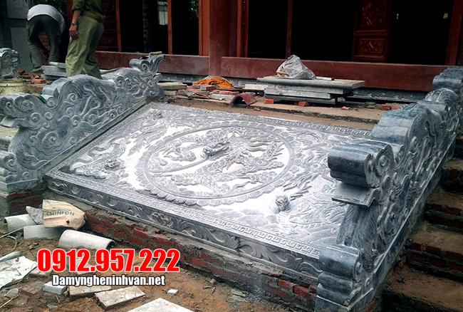 Chiếu rồng bằng đá – 10 Mẫu chiếu rồng đá nhà thờ họ, đình chùa đẹp