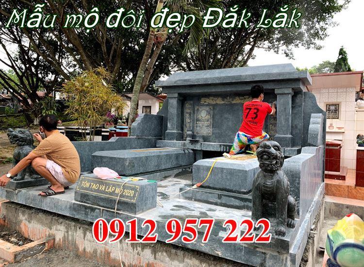Mẫu mộ đôi đẹp bằng đá tại Đắk Lắk