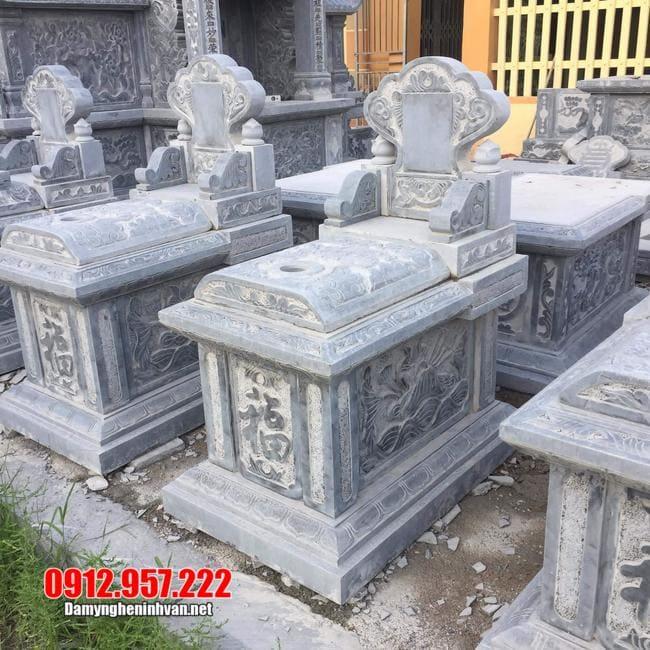 mẫu mộ bành bằng đá xanh thanh hóa