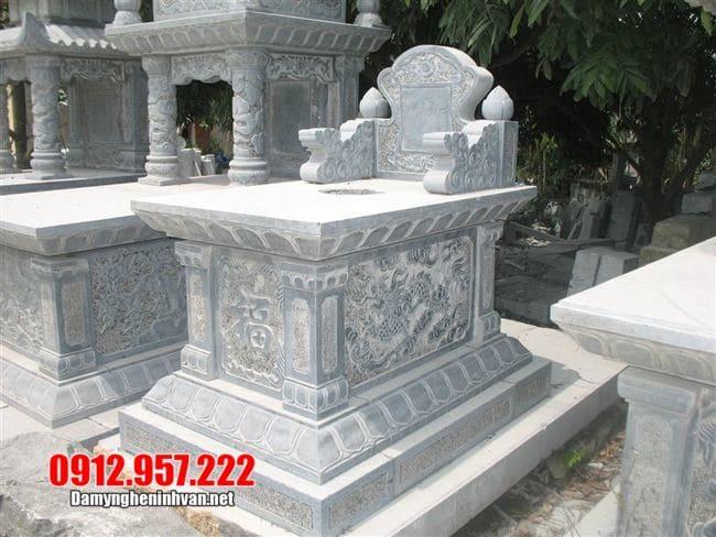 mẫu mộ bành đá xanh