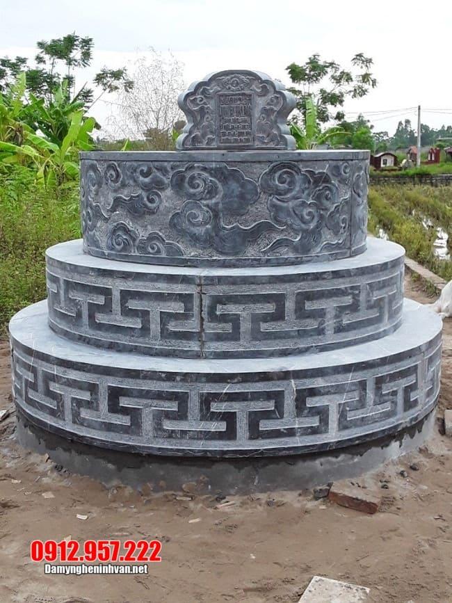 mẫu mộ tròn bằng đá xanh
