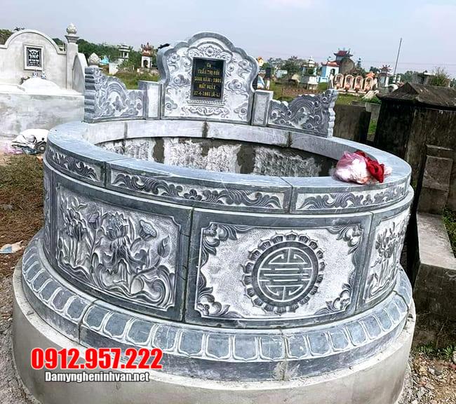 mẫu mộ tròn đá xanh đẹp nhất