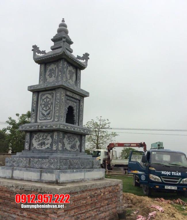 mẫu mộ đá hình tháp tại Quảng Bình đẹp nhất