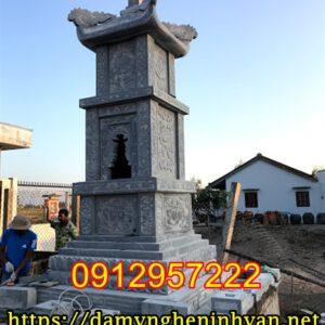 Mẫu tháp mộ đẹp để tro cốt - Kinh nghiệm xây tháp mộ đẹp bằng đá tại Miền Tây