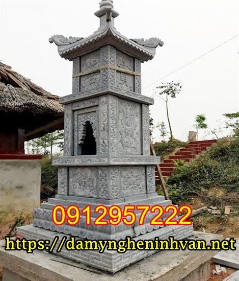Mộ tháp bằng đá, Tháp mộ đẹp để tro cốt