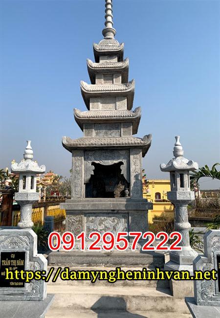 Xây tháp để tro cốt - Tháp mộ đẹp