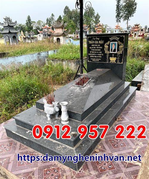 Mẫu mộ đẹp đơn giản hiện đại bằng đá granite;