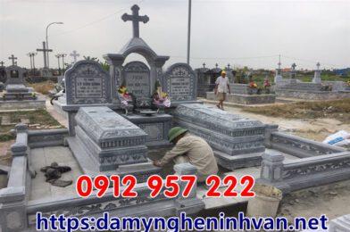 Mẫu mộ cho người theo đạo công giáo – Mộ đạo đẹp đơn giản hiện đại