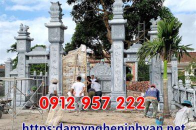 Lắp đặt cổng đá đẹp -Cổng nhà thờ họ tại Thái Thụy Thái Bình 2020