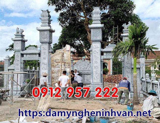 cổng đá đẹp -Cổng nhà thờ họ tại Thái Thụy Thái Bình