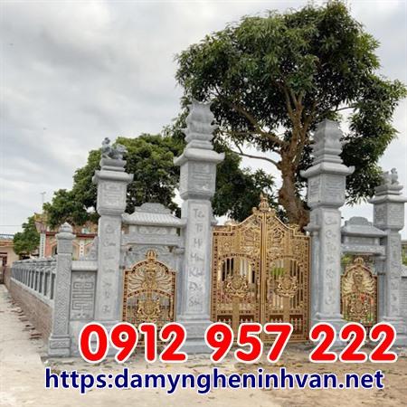 Cổng nhà thờ họ đẹp nhất tại Thái Bình - CỔng đá thái Bình
