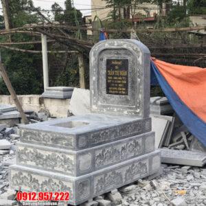 Mộ đá hai mái - Báo giá lăng mộ đá hai mái Ninh Vân Ninh Bình