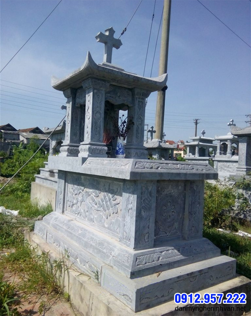Mẫu mộ đá đơn giản Quảng Ninh
