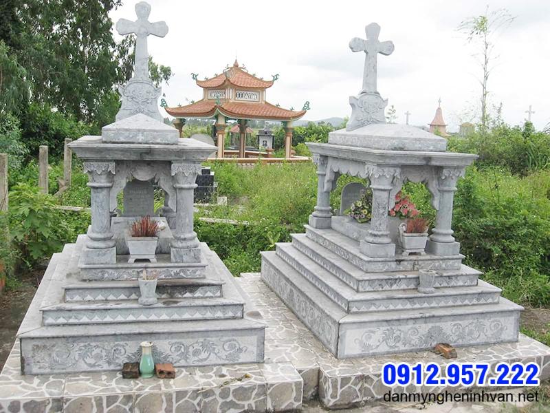 Mộ công giáo đẹp lắp đặt ở Quảng Ninh