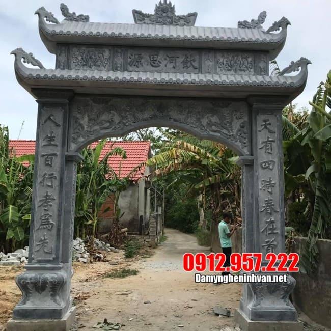 Cổng làng bằng đá xanh cao cấp