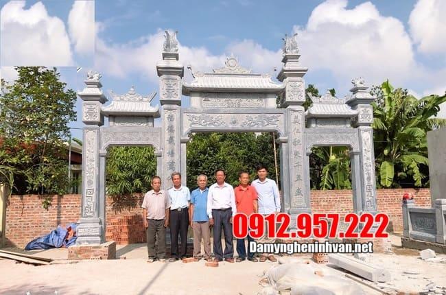 Địa chỉ thiết kế, lắp đặt cổng làng uy tín tại Ninh Vân