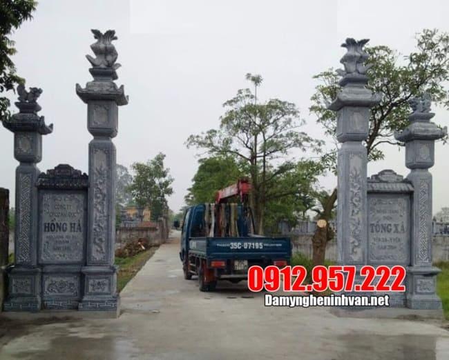 Địa chỉ xây cổng làng bằng đá đẹp tại Ninh Bình
