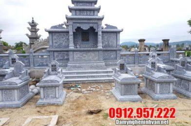 Lăng mộ đẹp bằng đá xanh – Mẫu lăng mộ đá đẹp tại Ninh Vân
